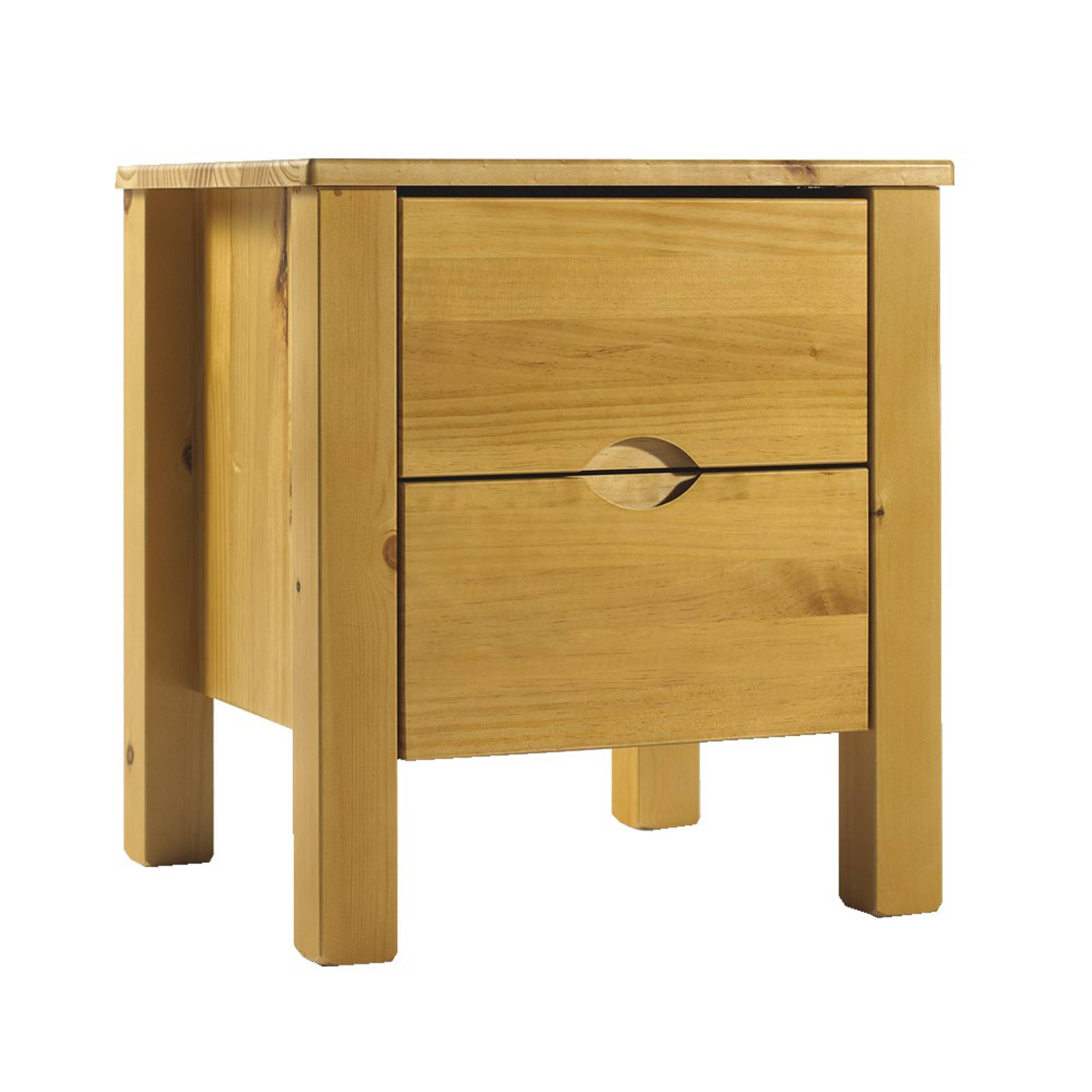Charlotta natural 2 drawer bedside locker all bedroom for Meubles kilkenny