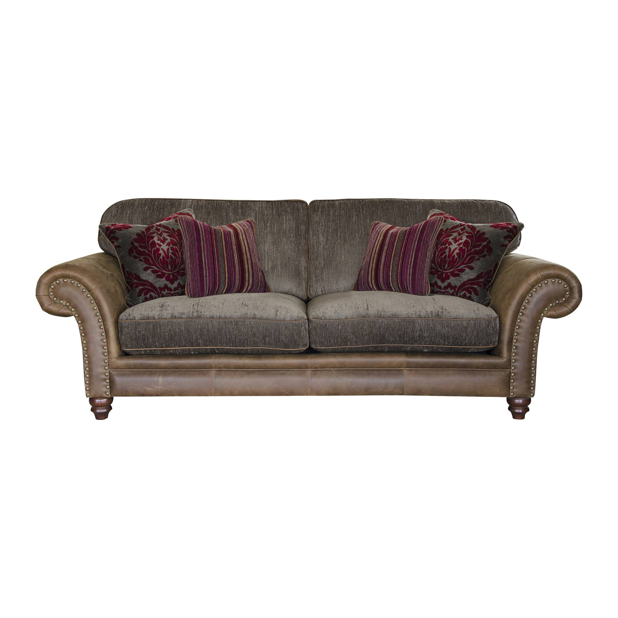 Alexander James Hudson 3 Seater Sofa Option 1 Fabric Leather