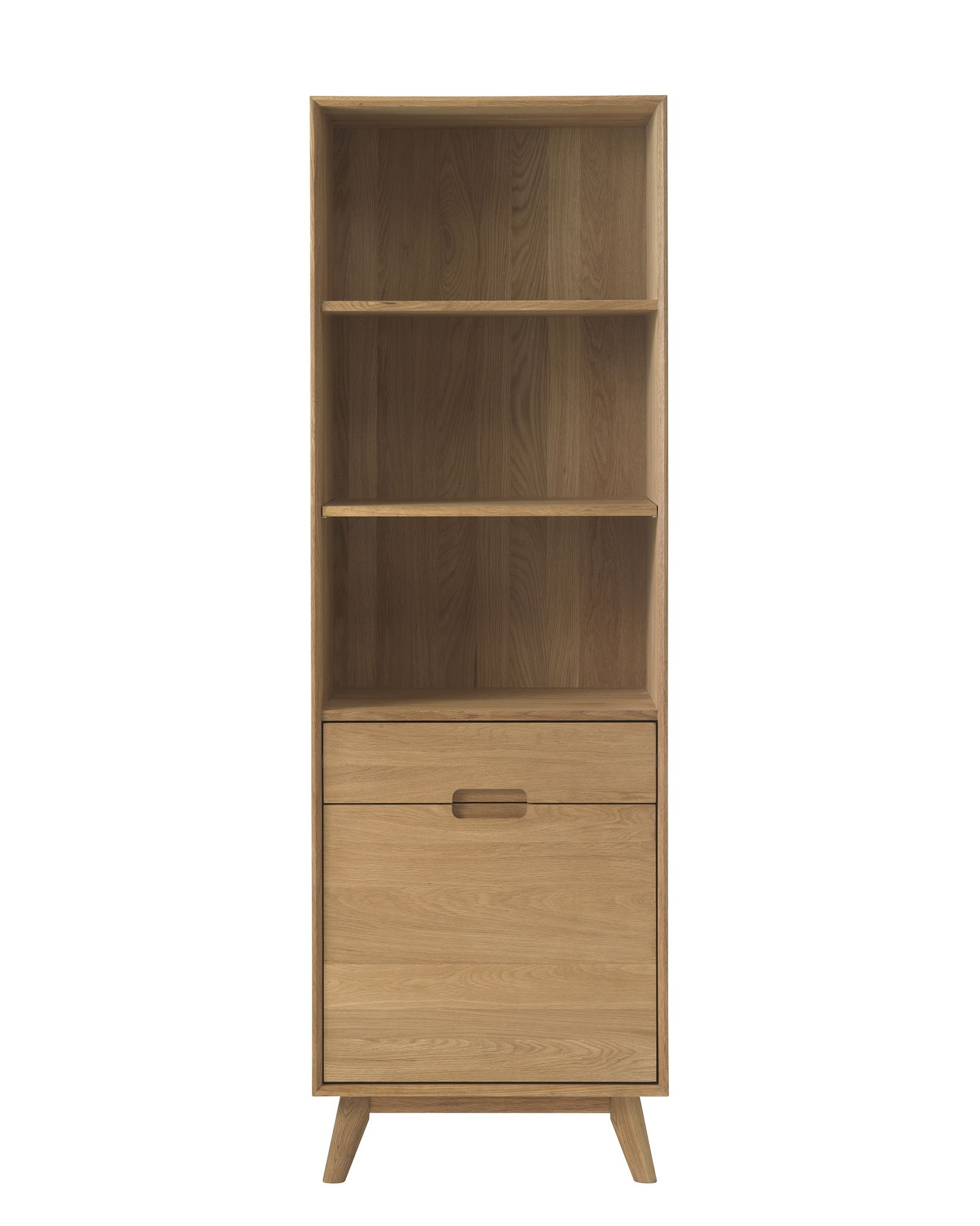 Bjorn Oak Open Shelving Display Cabinet  Display Cabinets  Meubles -> Meuble Tv Bjorn
