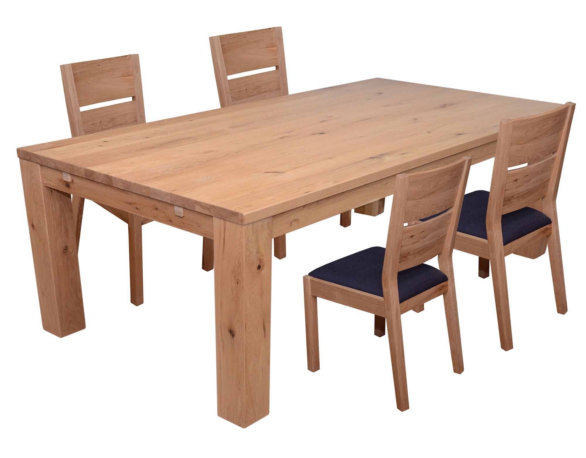 Castillo Wild Oak 6 8 Person Dining Table 4 Slatted Dining Chair C