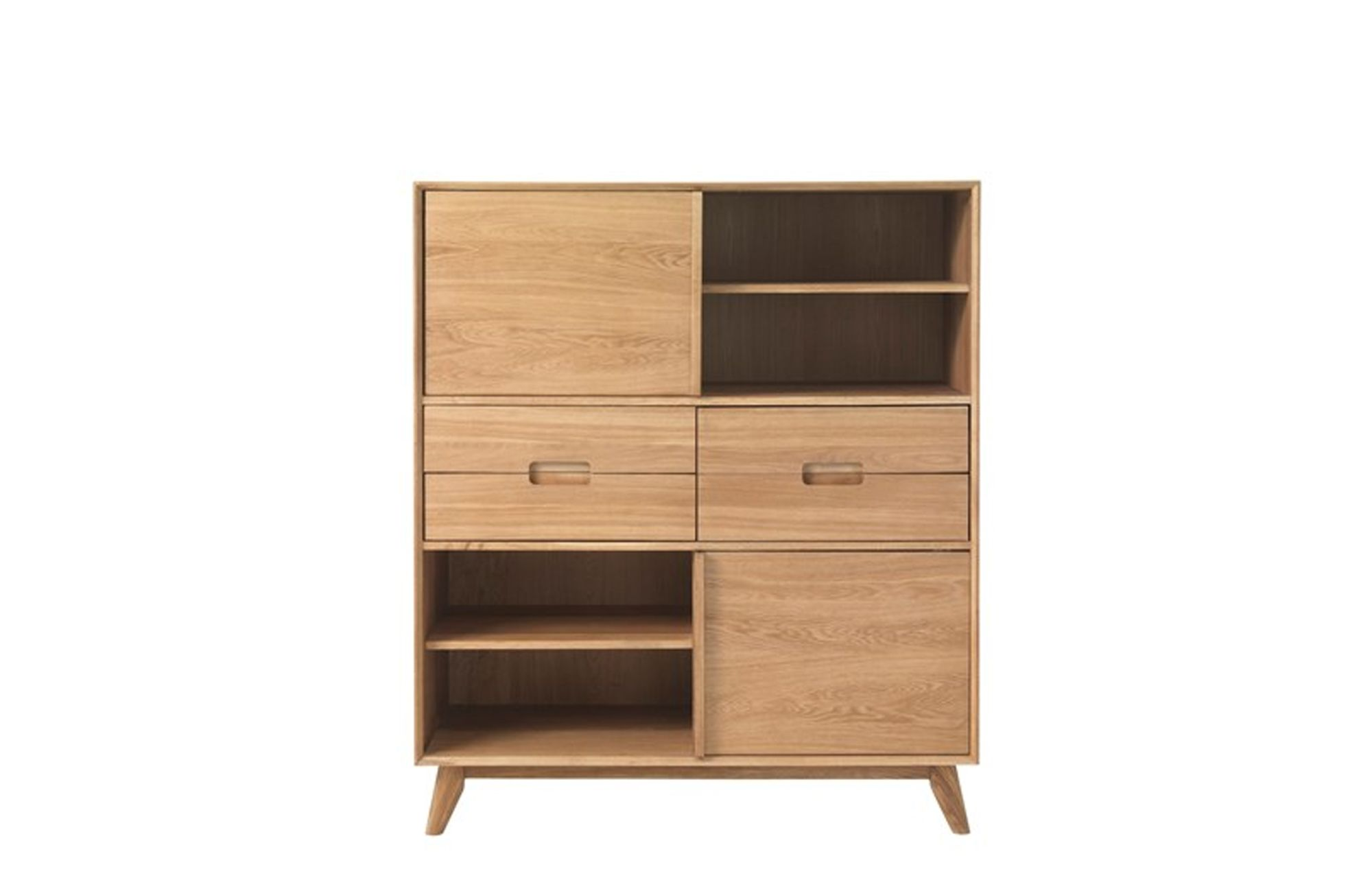 bjorn oak tall sideboard sideboards meubles. Black Bedroom Furniture Sets. Home Design Ideas