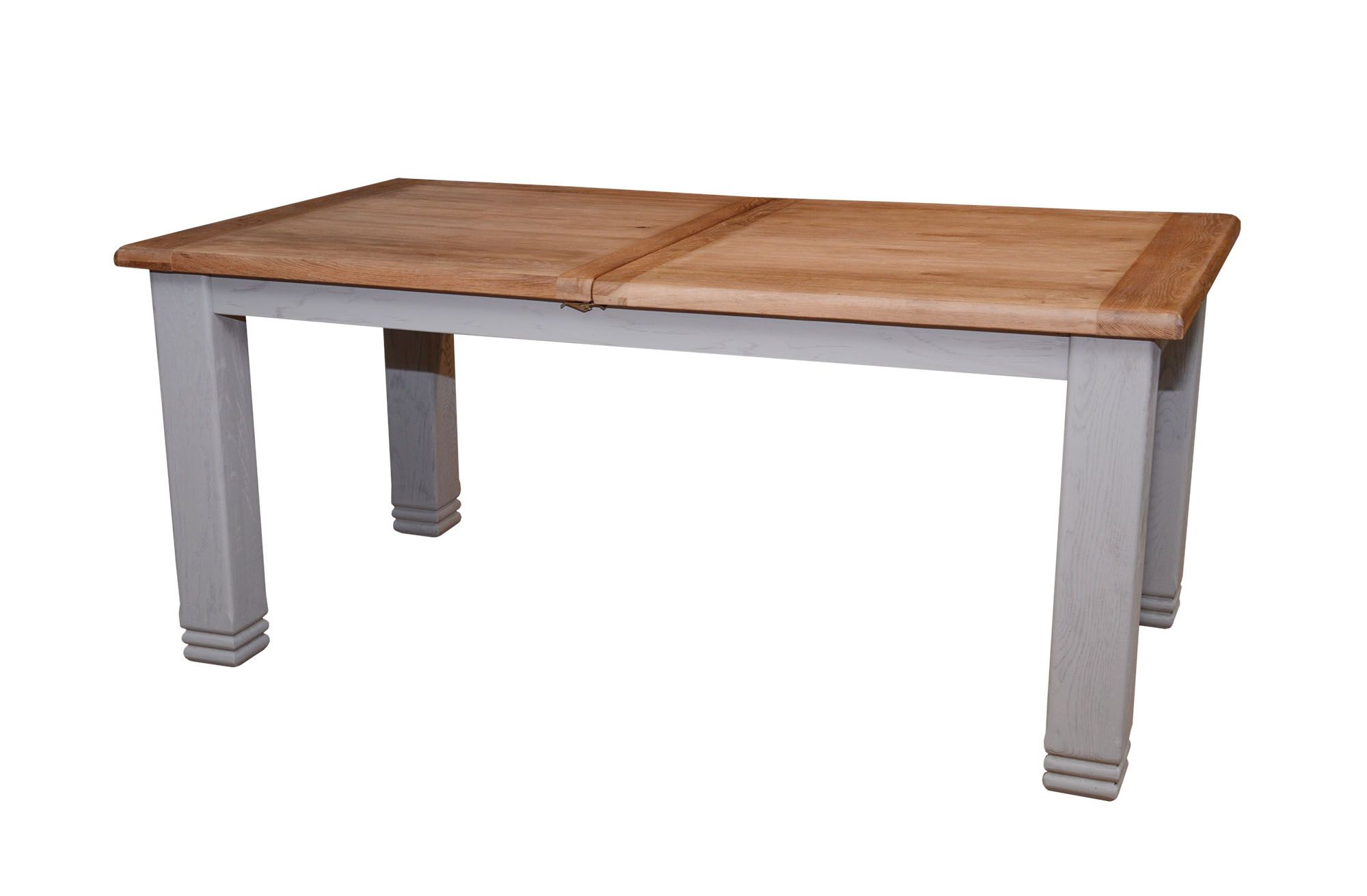 Aquitane weathered oak 6 8 person extending dining table for Meubles kilkenny