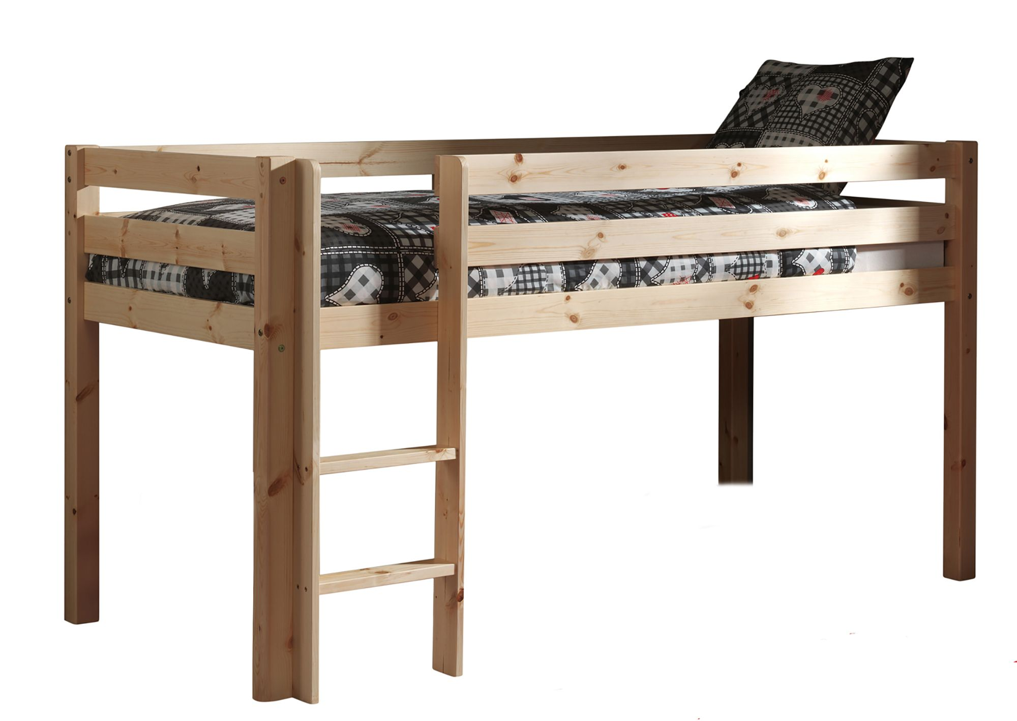 Vipack pino mid sleeper bed pine meubles for Meuble japonais futon