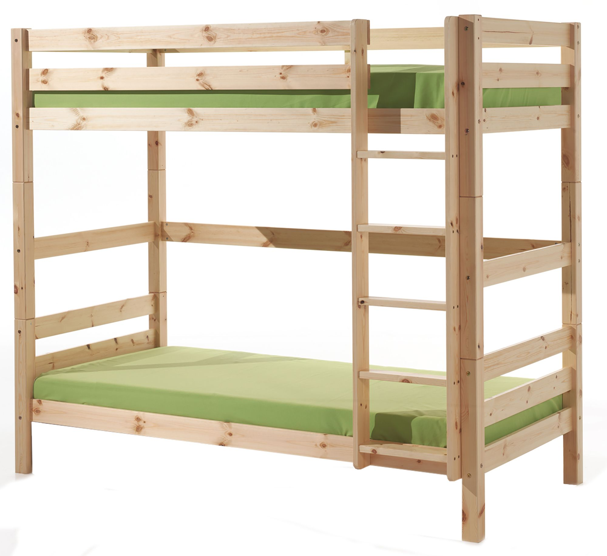 Vipack pino extra tall bunk bed natural meubles for Meuble japonais futon