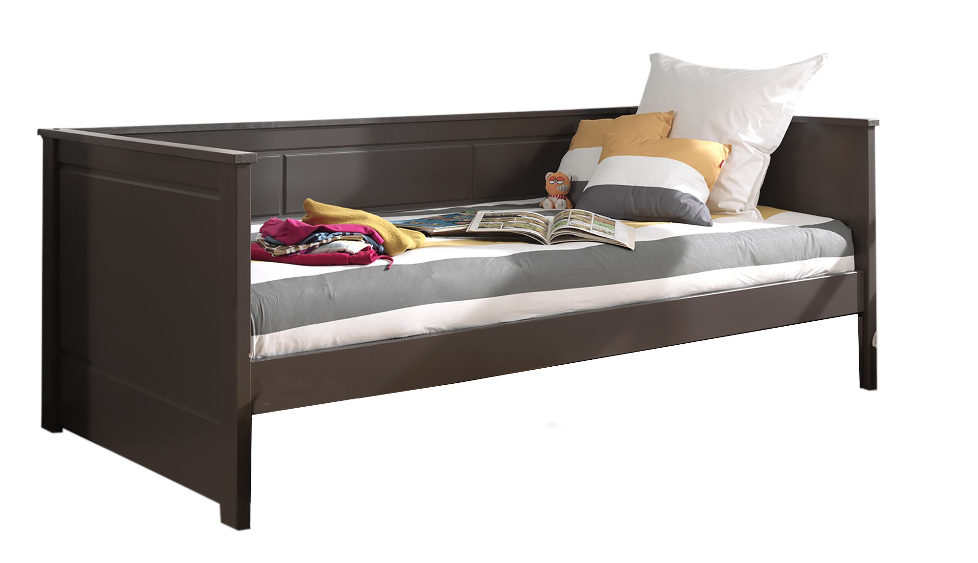vipack pino captain single 90cm bed taupe meubles. Black Bedroom Furniture Sets. Home Design Ideas