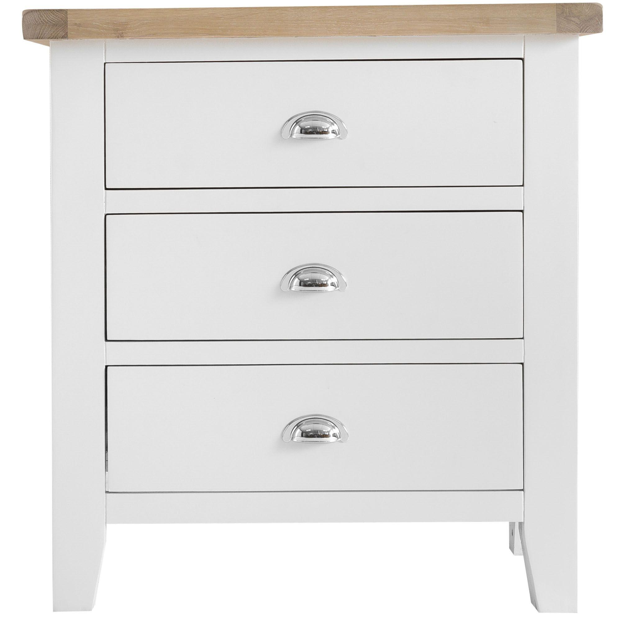 Tilly Extra Large 3 Drawer Bedside Locker White Bedside Lockers Bedside Tables Meubles