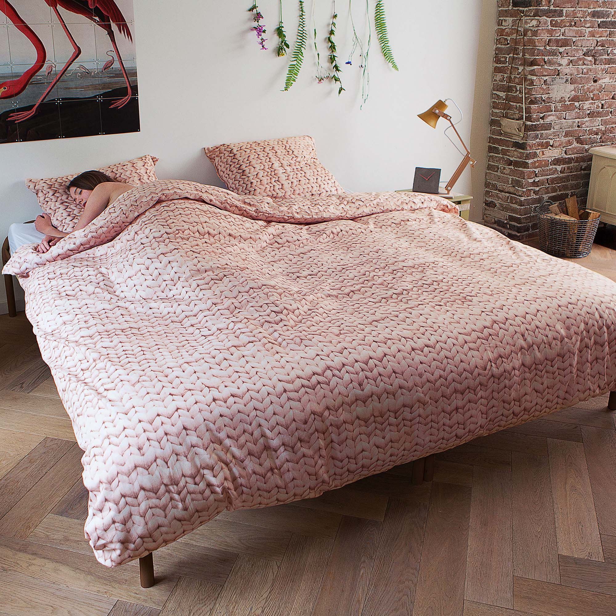 Snurk Twirre Single Duvet Cover Set Dusty Pink Duvet Covers Meubles
