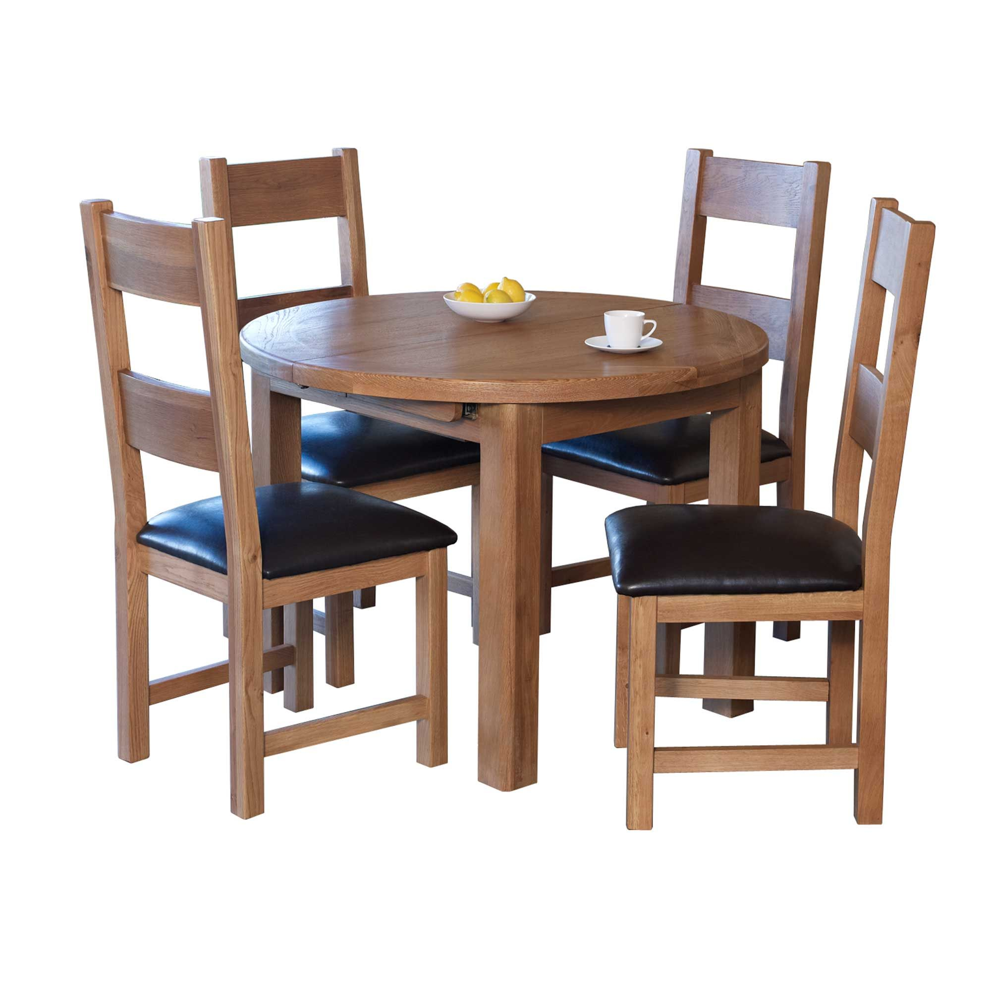 holly 46 person round extending dining table oak  meubles