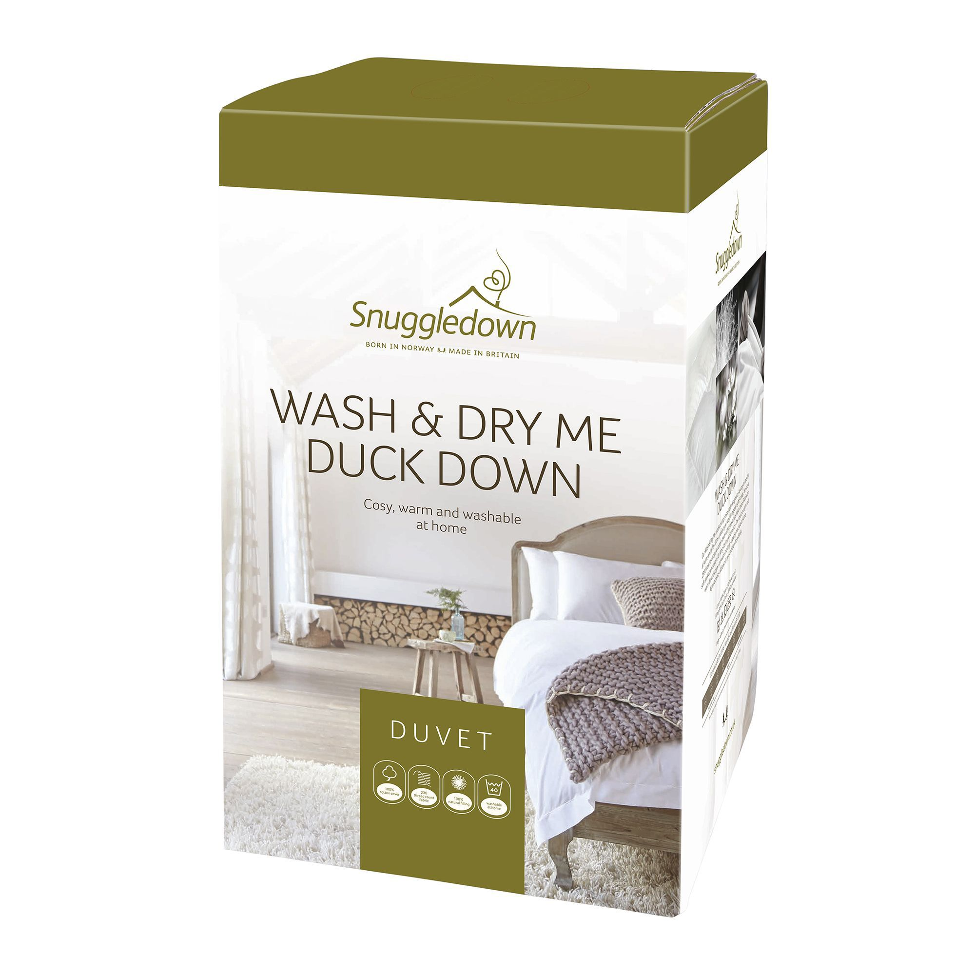 Snuggledown Wash Dry Me Duck Down Super King Duvet 135 Tog