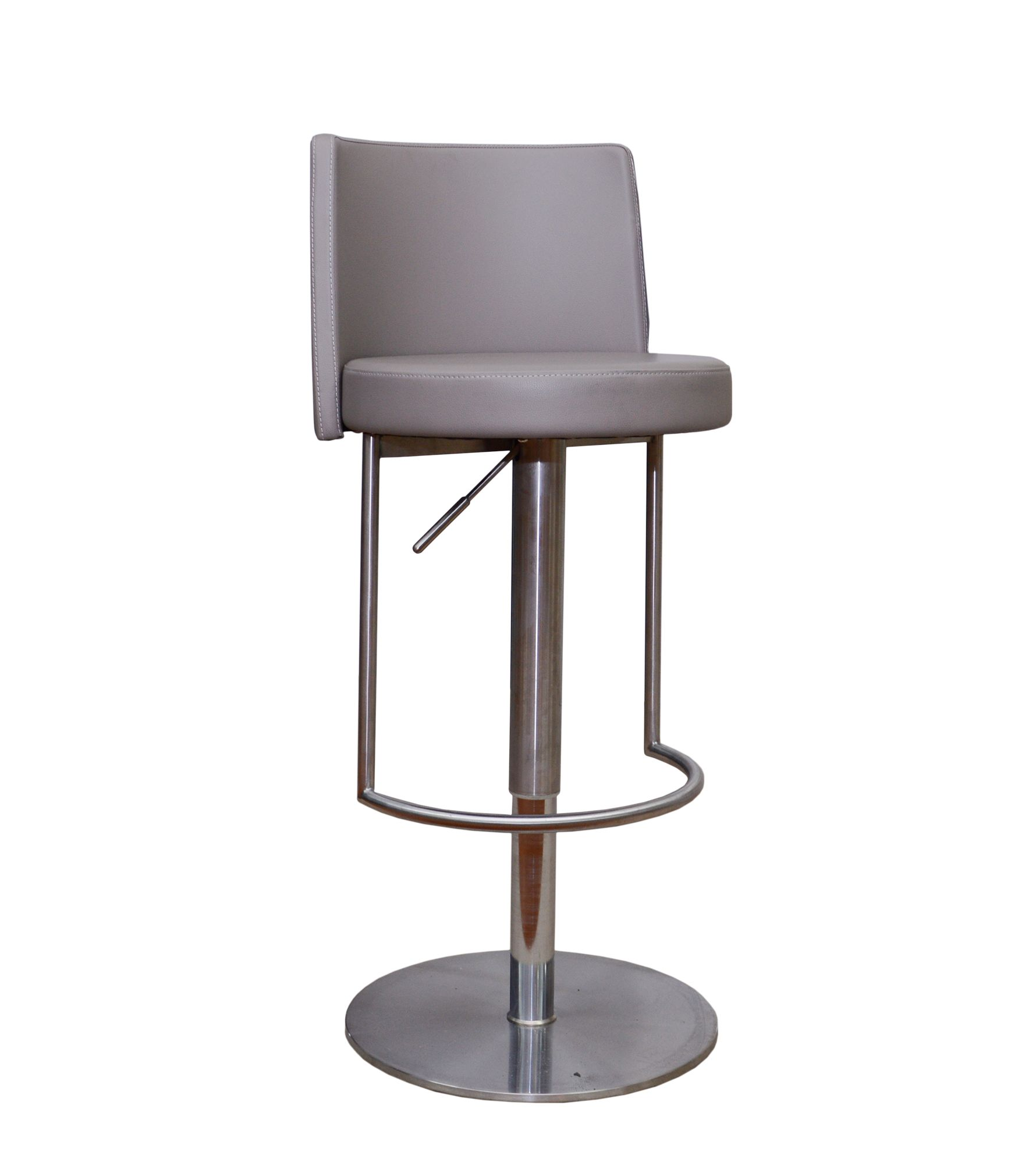 Monza High Bar Stool Faux Leather Taupe