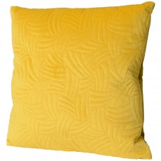 Velvet Quilted Cushion 45cm x 45cm Mustard