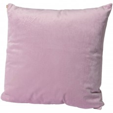 Velvet Cushion 45cm x 45cm Lilac With Gold Zip
