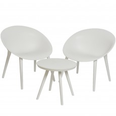 Marbella Bistro Set White