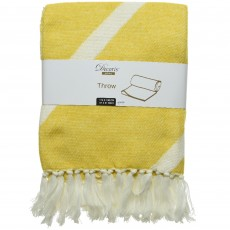 Throw With Stripe 130cm x 170cm Mustard