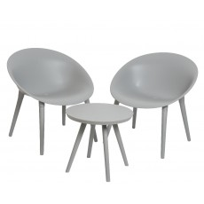 Marbella Bistro Set Light Grey
