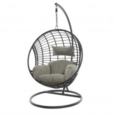 London Hanging Outdoor Egg Chair Black