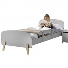 Vipack Kiddy Single (90cm) Bedstead Cool Grey