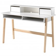 Vipack Kiddy Desk With Top Cabinet White