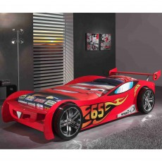 Vipack Le Mans Single (90cm) Car Bed Red