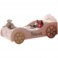 Vipack Princess Pinky Single (90cm) Car Bed Pink