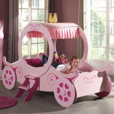 Vipack Princess Kate Single (90cm) Carriage Bed Pink