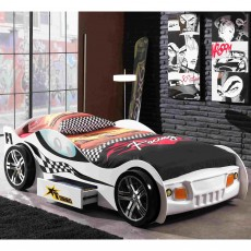 Vipack Turbo Racing Single (90cm) Car Bed White