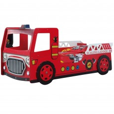Vipack Fire Truck Single (90cm) Bed Red