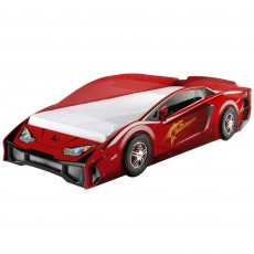 Vipack Lambo Single (90cm) Car Bed Red
