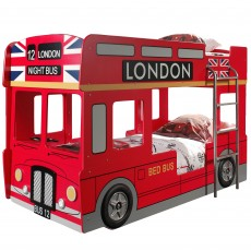 Vipack London Bus Bunk Bed Red