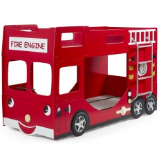 Vipack Fire Truck Bunk Bed Red