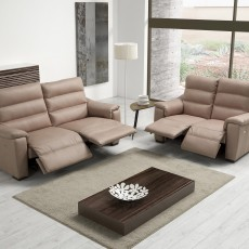 Egoitaliano Marina 3 Seater Sofa With 1 Recliner LHF Leather B