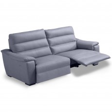 Egoitaliano Marina 3 Seater Sofa With 1 Electric Recliner LHF Leather Category B