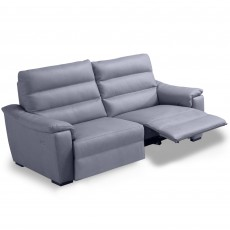 Egoitaliano Marina 2.5 Seater Sofa with 1 Electric Recliner LHF Leather B