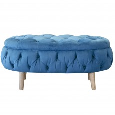Alexander & James Jean Oval Footstool Fabric A