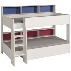 Parisot Leo Bunk Bed White With Pink & Blue Interchangeable Panels