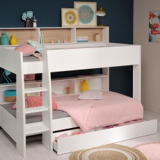 Parisot Leo Bunk Bed White With White & Oak Interchangeable Panels