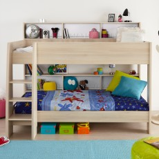 Parisot Tam Tam Bunk Bed Acacia With Acacia & White Interchangeable Panels