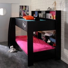 Parisot VIP Bunk Bed Black With Pink & Blue Interchangeable Panels