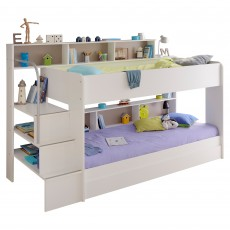 Parisot Bibop Bunk Bed White With Pink & Acacia Interchangeable Panels