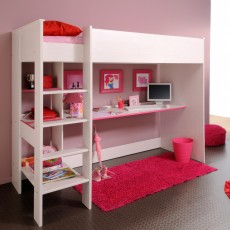Parisot Smoozy High Sleeper Bedroom System White