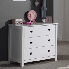 Vipack Amori 3 Drawer Chest Of Drawers White