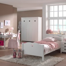 Vipack Amori 3 Door Wardrobe White