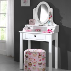 Vipack Amori Dressing Table With Vanity Mirror White
