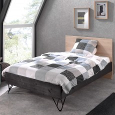 Vipack William Small Double (120cm) Bedstead Black & Birch