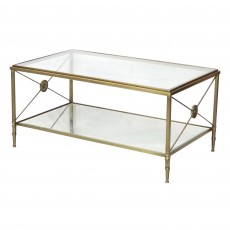 Mindy Brownes Bilbao Coffee Table Antique Brass