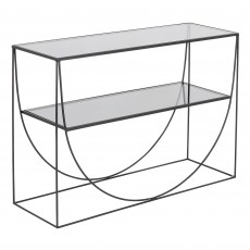 Mindy Brownes Heidi 2 Tier Console Table Black