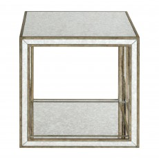 Mindy Brownes Julie Cube Side Table Silver
