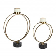 Mindy Brownes Nikola Set of 2 Candleholders Gold