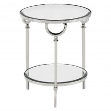 Mindy Brownes Bayonne 2 Tier Round Side Table Silver