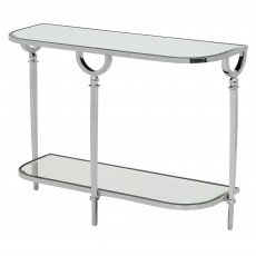 Mindy Brownes Bayonne 2 Tier Console Table Silver